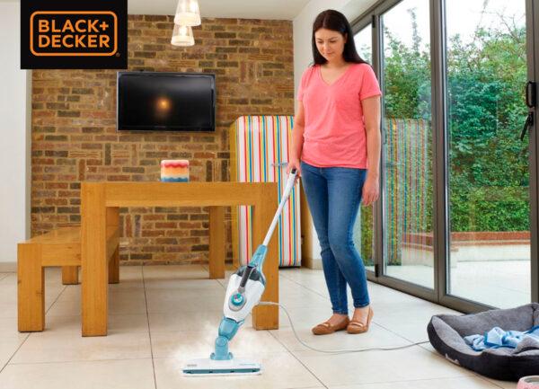 Black and Decker 7-i-1 Steam mop med tilbehør
