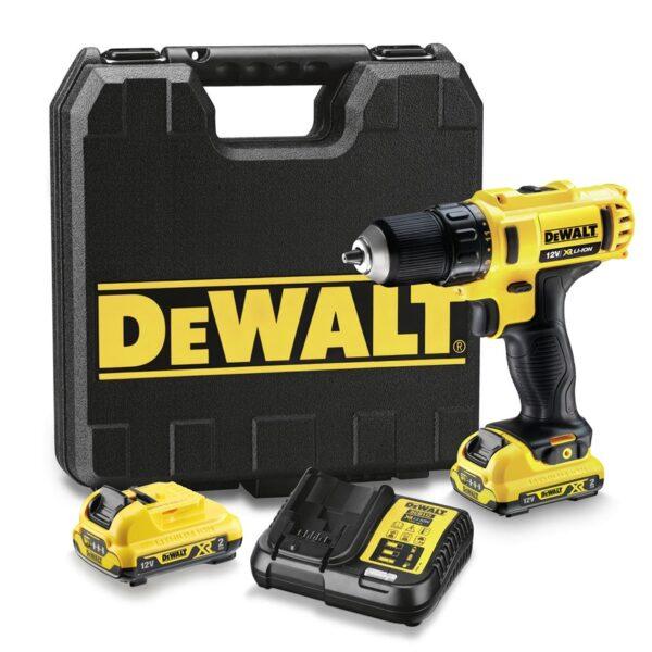 DeWalt - Bore-/skruemaskine 10.8V med 2 batterier