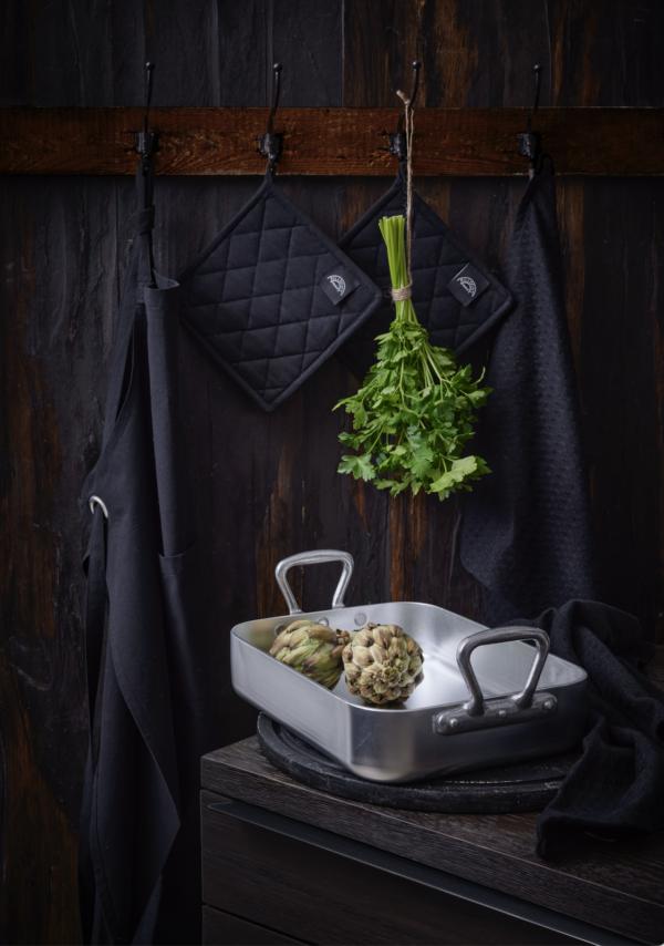 Mauviel Bradepande og Pillivuyt Køkkentekstiler