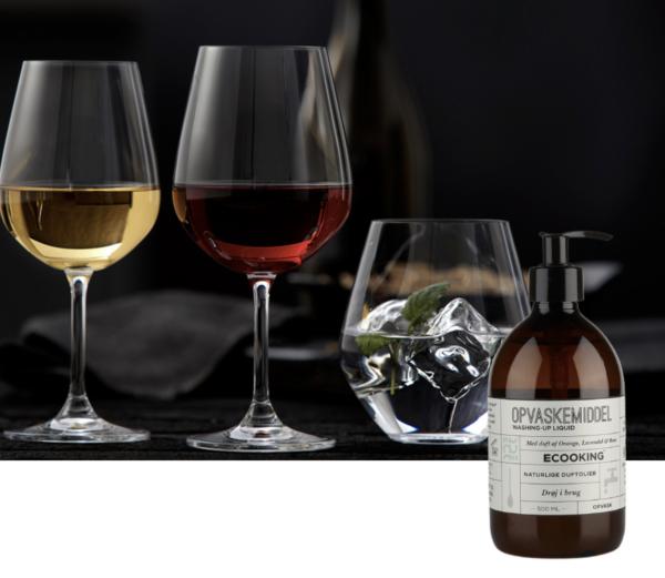 Lyngby Glas Krystal Glassæt 18 dele og Ecooking opvaskemiddel
